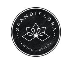Grandiflora logo crest by small shop