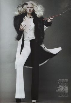 """On the Verge of Acute"" : Alla Kostromichova : Vogue Russia October 2011 : Jason Kibbler"