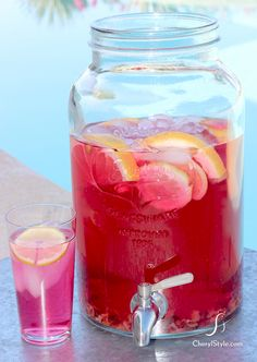 grapefruit and rooibos iced tea on www.CherylStyle.com