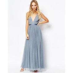 Jupon en tulle : nice Jupon en tulle : Needle & Thread Embellished Plunge V Neck Tulle Skirt Maxi