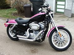 Pink Harley-Davidson Sportster | 2005 Harley Sportster XL883L Pinkster Edition!! For the Ladies!!