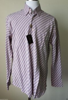 BUGATCHI UOMO men size L dress microfiber long sleeve slim fit #shirt button down visit our ebay store at  http://stores.ebay.com/esquirestore