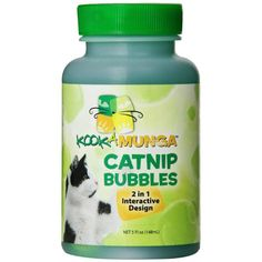Kookamunga Catnip Bubbles are a concentrated natural catnip extract. Bubble wand included.100 percent natural. Size: 5 ounce