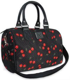 Liquor Brand- Cherries Handbag - Anchor Rose Clothing #bags #cherries #rockabilly #cute #gift #for #her