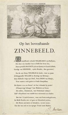 Wenceslaus Hollar   Allegorie op de verheffing van Willem IV, 1747, Wenceslaus Hollar, Johannes Marshoorn, 1641   Allegorie op de verheffing van Willem IV tot stadhouder van de Republiek, mei 1747. De Oranjeboom vastgehouden door de Nederlandse en de Engelse Leeuw (met koningskroon). De spuit is nu tot een boom (Willem IV) gegroeid. Aan weerszijden struiken met Engelse rozen. Afdruk van een oude plaat vervaardigd ter gelegenheid van het huwelijk van prins Willem II en Maria Stuart in 1641…