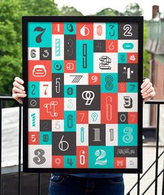Numbers Poster by fifty five hi's