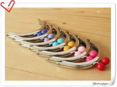 7 color 8cm half round Silver purse frame purse by 3Dpatternpaper, $18.90