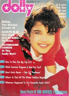 Dolly Magazine June 1984 with front cover model Nikki Smith & photographer Graham Shearer. This was the very first Dolly magazine I bought. I thought I was the cool of cool... My Magazine, Magazine Editorial, Magazine Covers, School Memories, My Childhood Memories, Cover Model, Teenage Years, 80s Fashion, Fashion History