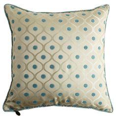 Dotted Jacquard & Floral Pillow - Pier1 US