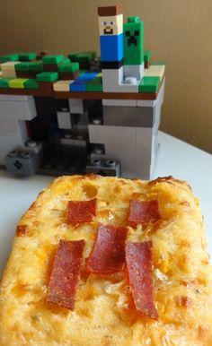 Minecraft Creeper pizza biscuits recipe