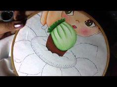 Pintura en tela niña girasol # 4 con cony - YouTube