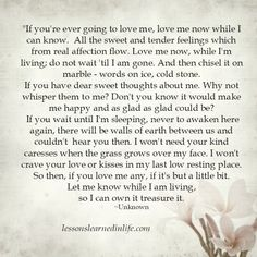 Lessons Learned in Life | If you're ever going to love me.
