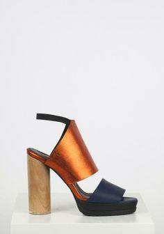 wooden heel sandals.