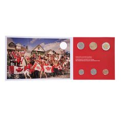 """2012 """"Oh Canada"""" Set with Scarce Type 1 $1 and $2, plus four War of 1812 Quarters  for Tim & Karli's baby 2. Plus Fours, War Of 1812, Type 1, Coins, Canada, Amp, Movie Posters, Rooms, Film Poster"""