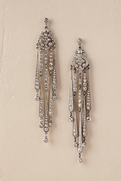 Wedding Earrings Ben-Amun Ben Amun Tivoli Chandelier Earrings - Description Meticulously crafted by hand, these dramatic chandeliers feature Swarovski crystals set in a gorgeous Art Deco motif. By Ben-Amun Style Crystal Earrings, Crystal Jewelry, Silver Earrings, Silver Jewelry, Drop Earrings, Silver Ring, Dainty Earrings, Jewelry Branding, Bridesmaid Jewelry
