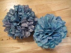 Blue Coffee Filter Flowers - With or Without Fragrance