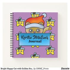 Bright Happy Cat with Golden Star Journal Bright Happy Cat with Golden Star Journal #Onmeprints #Zazzle #Zazzlemade #Zazzlestore #Zazzleshop #Zazzlestyle #Bright #Happy #Cat #Golden #Star #Journal Christmas Time, Christmas Cards, Merry Christmas, Unique Cats, Golden Star, Notebook Covers, Pretty Cats, Love Notes, Kawaii Cute