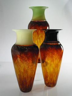 Tall Safari Series Vase: David Leppla and Melanie Guernsey-Leppla: Art Glass Vase - Artful Home