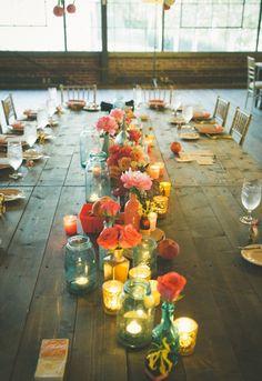 Center piece | chic belgium brewery wedding