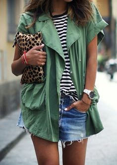 Leopard and stripes Print clash love