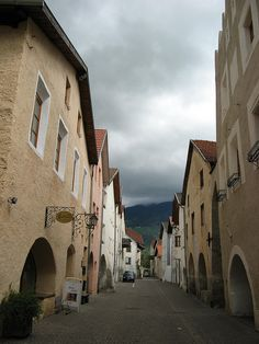 Glurns walled town in, South Tyrol, Italy