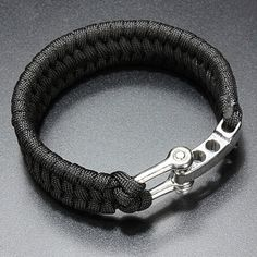Survival Bracelet Para Outdoor Cord Black Rope Camping Steel Shackle Buckle WCL | Sporting Goods, Outdoor Sports, Camping & Hiking | eBay!