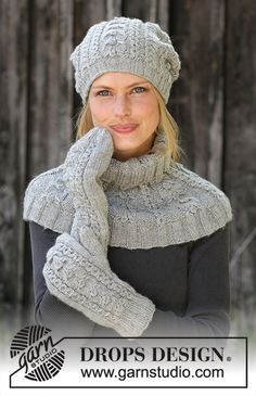 Ice skating set / DROPS - free knitting patterns by DROPS design Free knitting instructions Record of Knitting Yarn spinning, weaving and stitching jobs such as BC. Mittens Pattern, Knitted Hats, Drops Design, Knitting Patterns Free, Free Knitting, Knit Crochet, Crochet Hats, Knitting For Beginners, Hat Patterns