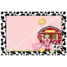 Convite plano sem envelope Tema: Fazendinha menina 1   EMAIL: boutiquedeencantos@gmail.com