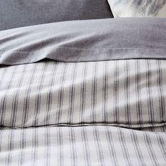 Flannel Arrow Stripe Dobby Duvet Cover + Shams | west elm
