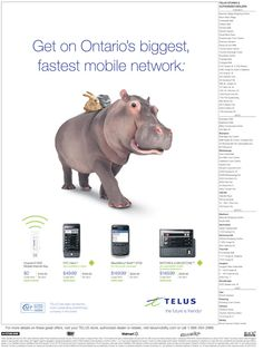 Advertising for Ontario's mobile network