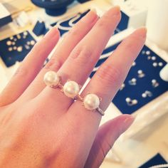 【RETOY'S web Magazine】MAYU accessories pearl ring.