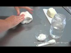 How to make sugarpaste flower paste Inspired by Michelle Cake Designs