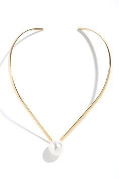 Be Our Guest Gold and Pearl Collar Necklace