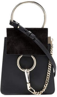7e92b4fea5f Chloé black Faye small suede bracelet bag Suede Bracelet