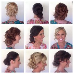 All these bridesmaids and their updos   Lindsay Milstead Hair Stylist   @wedlocksbridal http://instagram.com/wedlocksbridal  https://m.facebook.com/WedLocksUpdos?id=341664619208066&_rdr  Www.wedlocksbridal.com