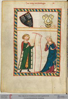 Meinloh von Sevelingen, der älteste der schwäbischen Minnesänger, ist urkundlich nicht belegt, er dürfte jedoch in der zweiten Hälfte des 12. Jahrhunderts gelebt haben.