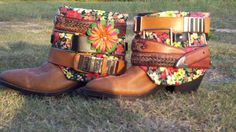 LADY BIRD's WILDFLOWERS  Upcycled Vintage/Boho  by TheBootGawdess, $176.00