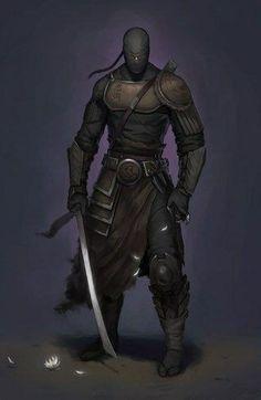 Ninja of the Storm Shadow Order. Fantasy Character Design, Character Design Inspiration, Character Concept, Character Art, Concept Art, Ninja Kunst, Arte Ninja, Fantasy Armor, Dark Fantasy Art