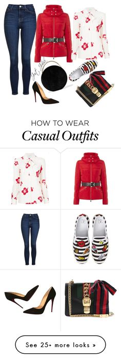 """casual or classy i slay"" by jost-julia on Polyvore featuring BP., Michael Kors, Topshop, Yves Saint Laurent, Christian Louboutin, Eddie Borgo and Gucci"