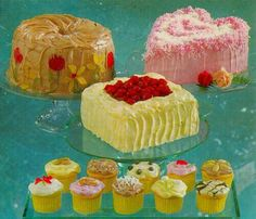 Bakery Style Cake, Vintage Sweets, Vintage Food, Vintage Baking, Retro Food, Vintage Cakes, 70s Food, Retro Recipes, Vintage Recipes