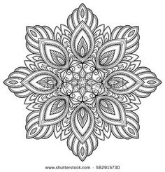 Vector henna tatoo mandala. Mehndi style. Decorative pattern in oriental style. Coloring book page.