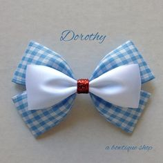 dorothy hair bow by abowtiqueshop on Etsy