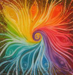 Symbols, Shapes and Colours of Mandalas Rainbow Art, Rainbow Colors, Rainbow Painting, Chakra Art, Chakra Colors, Silk Art, Silk Painting, Color Theory, Fractal Art