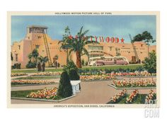 world's fair san diego poster | Motion Picture Hall of Fame, World's Fair, San Diego Premium Poster