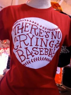There's No Crying in Baseball Red Blingy Baseball Tee. $34.00, via Etsy.