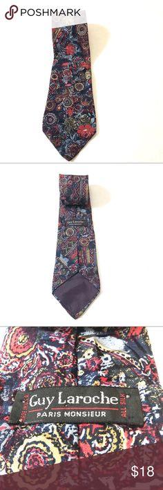 Guy Laroche Paris Monsieur Men's Tie. Guy Laroche Paris Monsieur Men's Tie. Great pattern, very good condition. Guy Laroche Accessories Ties