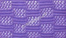 узор 437 ажурные квадраты | каталог вязаных спицами узоров