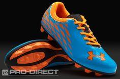 Under Armour Junior Football Boots - Under Armour Force II HG - Firm Ground - Kids Soccer Cleats - Blue-Sun