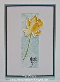 Stampin' Up - Sale-a-Bration - Lotus Blossom ..... Beautiful Simplicity Teri Pocock - http://teriscraftspot.blogspot.co.uk/2015/01/lotus-blossom-beautiful-simplicity.html