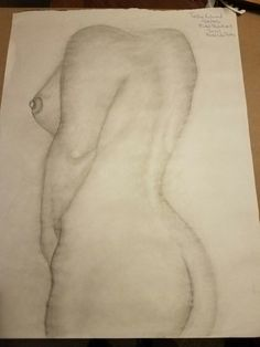 Nude Model Drawing (rule of 1/3rds)